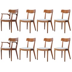 Set of Eight Modern Kipp Stewart for Drexel Declaration Danish Dining Chairs