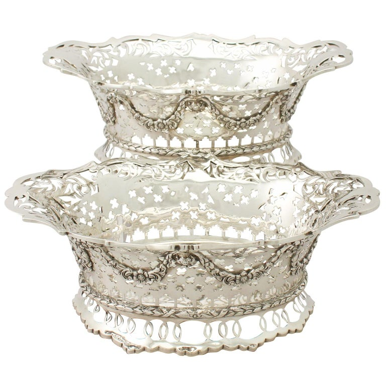 Edwardian English Sterling Silver Presentation Dishes