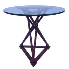 Single Large Triangle End Table in the Style of Noguchi