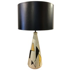 Scandinavian Abstract Ceramic Table Lamp by Axel Bruel