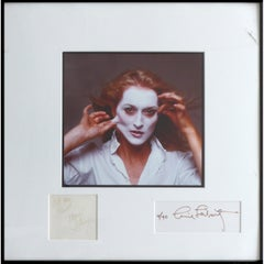Signed Annie Leibovitz Photograph of Meryl Streep Dated 1981 and Numbered 4/40
