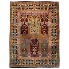 Antique Indian Lahore Rug