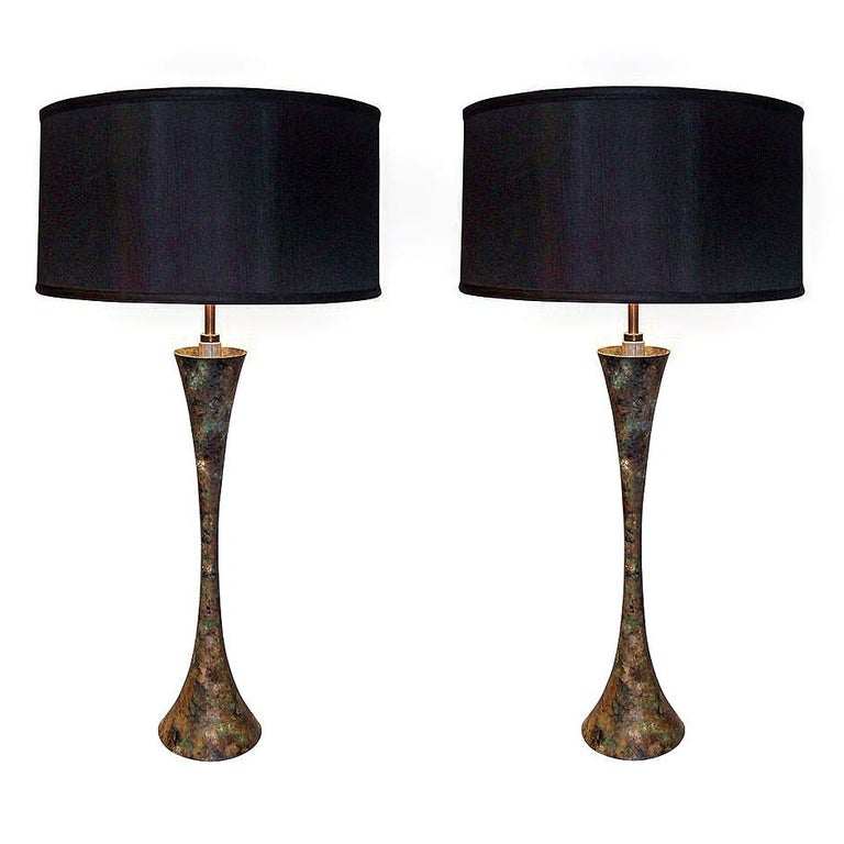 Pair of Hansen Table Lamps Designed by Damon Giffard or Stewart Ross James For Sale