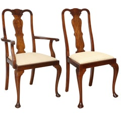 19th Century Set of Eight Queen Anne Style Dining Chairs