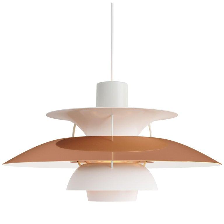 Poul Henningsen PH 5 Copper Pendant for Louis Poulsen