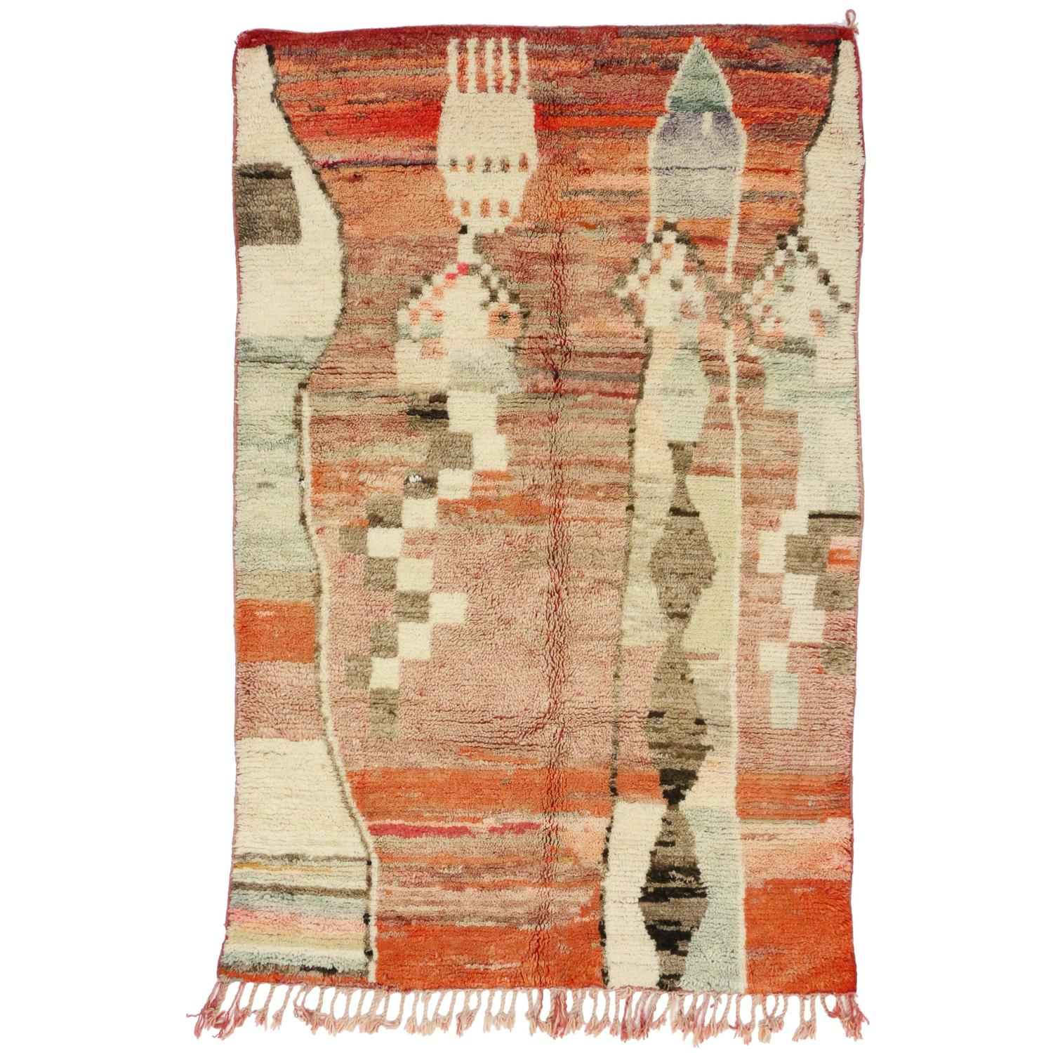 Berber Moroccan Rug With Art Deco Design At 1stdibs