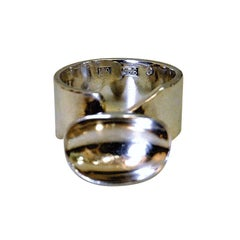 Sterling Silverring Cup Shape, Adjustable, Sweden
