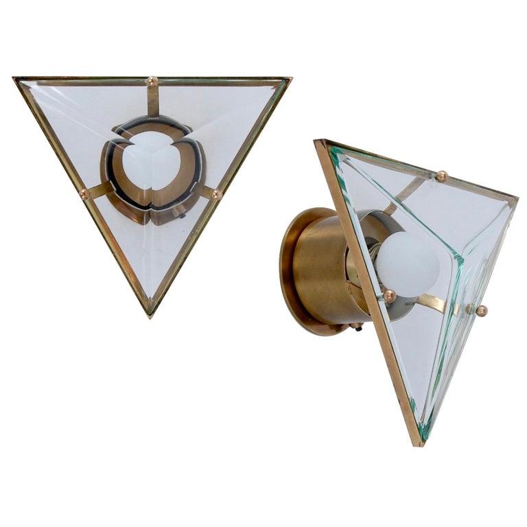 Crystal Arte Triangular Sconces