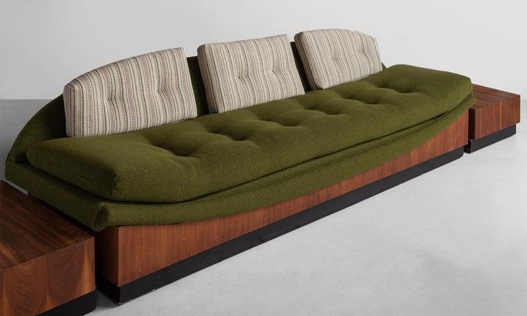 Veneer Adrian Pearsall Gondola Sofa, circa 1960 For Sale