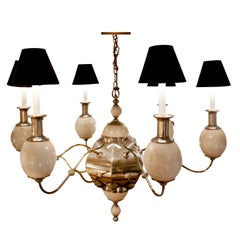 Large Artisan Chandelier with Ostrich Eggs, 1970s