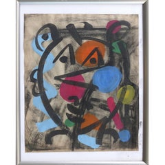 1967 Abstract Mixed-Media Painting by Peter Robert Keil, Palma de Mallorca