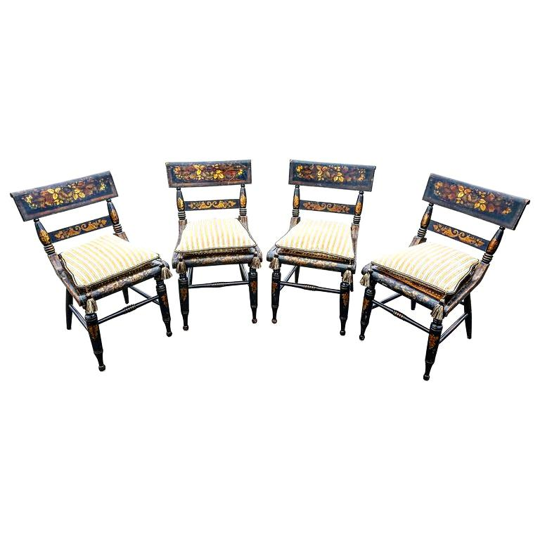 Set Of Four American Fancy Chairs, Baltimore, Circa 1820s