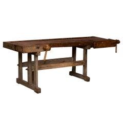 Antique Hungarian Carpenter's Workbench