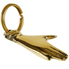 Carl Auböck Model #5734 'Hand' Brass Figurine Keyring