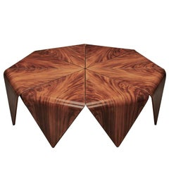 Italian Midcentury Octagonal Coffee Table in Cherrywood