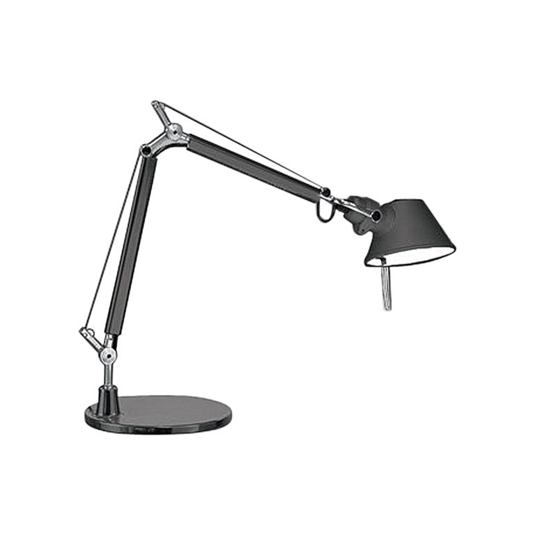 Tolomeo Micro Lamp with Black Base by Michele De Lucchi & Giancarlo Fassina