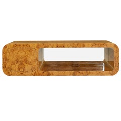 Pace Collection Floating Burl Wood Sideboad