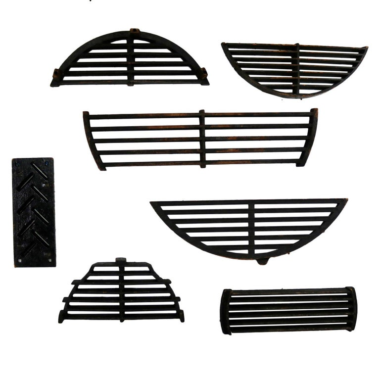 Antique Industrial Foundry Patterns for Molds Handmade Wood Set of Seven – Grp 2