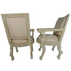 Pair of Swivel Armchairs In The Manner of John Dickinson