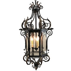 Antique Wrought Iron Lantern