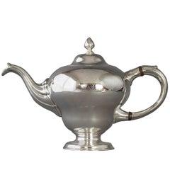 George II Scottish Silver Teapot, Edinburgh, 1749