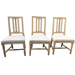 Set of Three 19th Century Gustavian Chairs