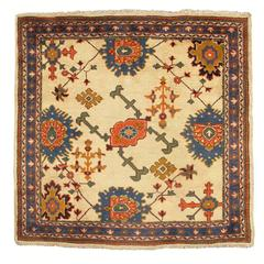 Early 20th Century Classic Tan Oushak Rug