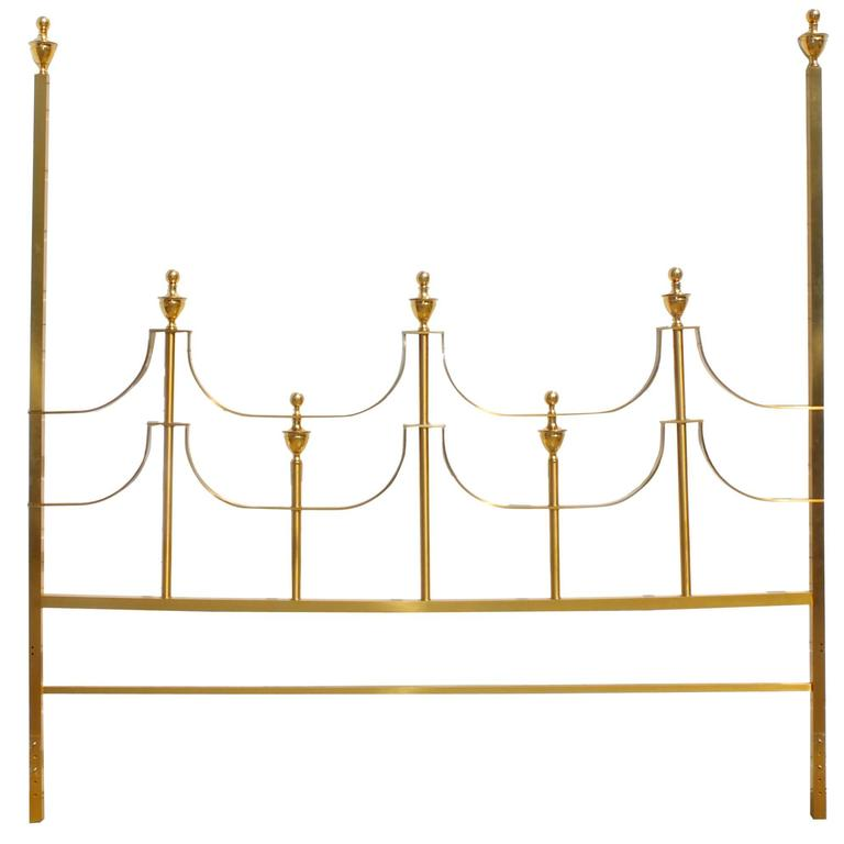 Mastercraft King-Size Brass Headboard by Joseph Braswell and Inman Cook 1