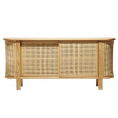 Grace Buffet, Contemporary Woven Rattan Sideboard in a Modern Vintage Style