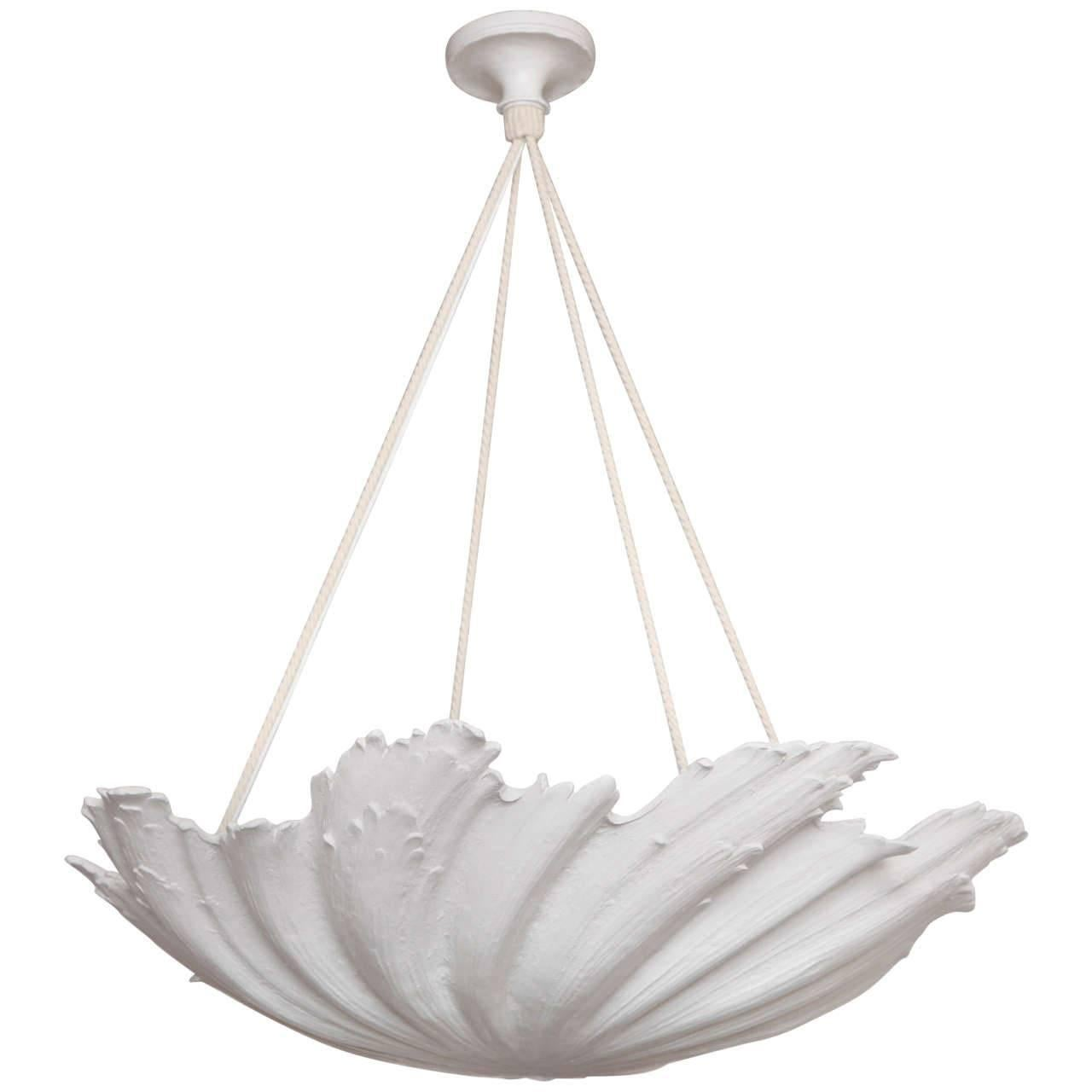 WP Sullivan Plaster Shell Chandelier