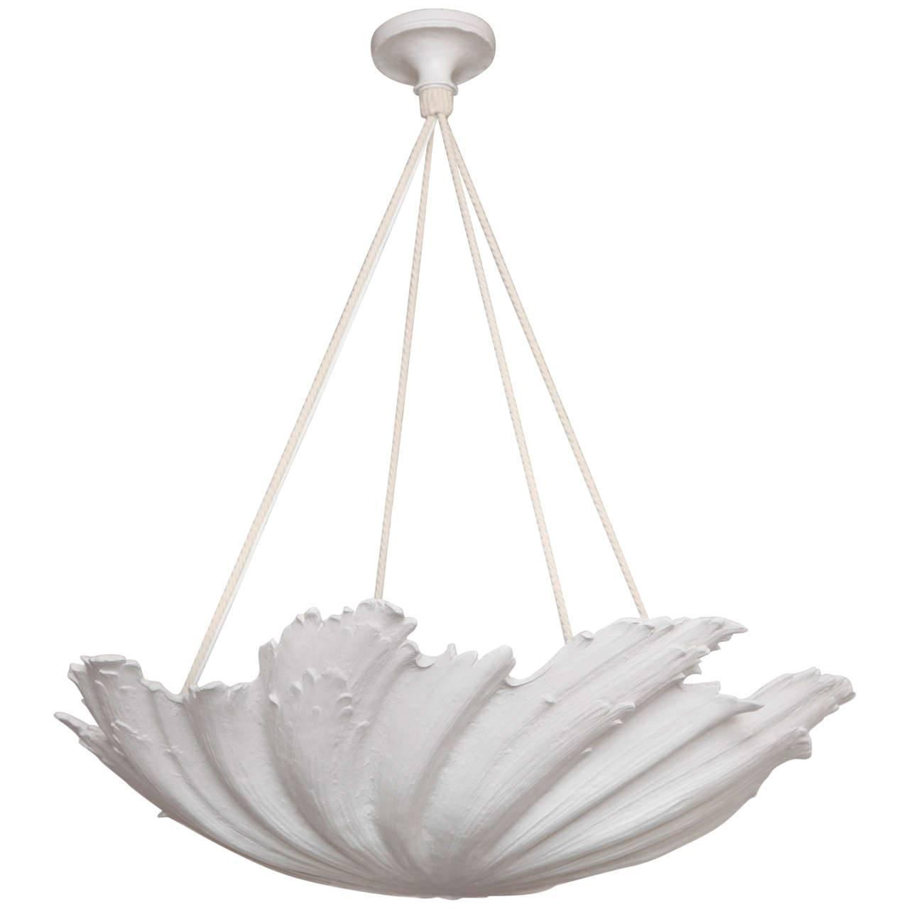 Wp sullivan plaster shell chandelier for sale at 1stdibs aloadofball Choice Image