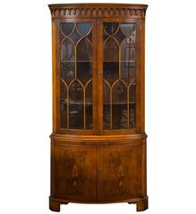English Bow Front Corner Cabinet by Bevan Funnell