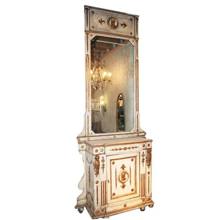 Venitian 19th Century Cabinet with Mirror 1