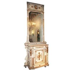 Venitian 19th Century Cabinet with Mirror