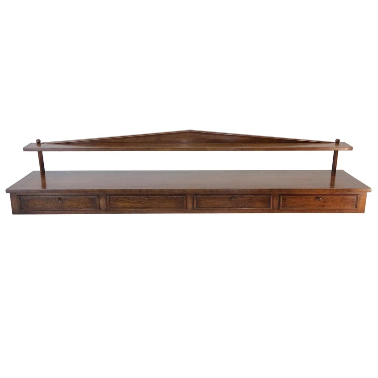 Ronnie Brahms for H. Sacks Wall Mounted Console Server For Sale