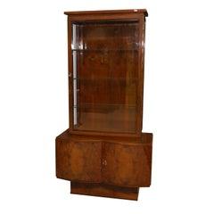 Bohemian Art Deco Display Cabinet, 1930s