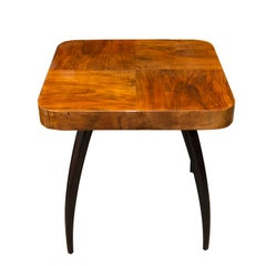 Walnut Spider Table H-259 by Jindrich Halabala, 1950s, Czechoslovakia