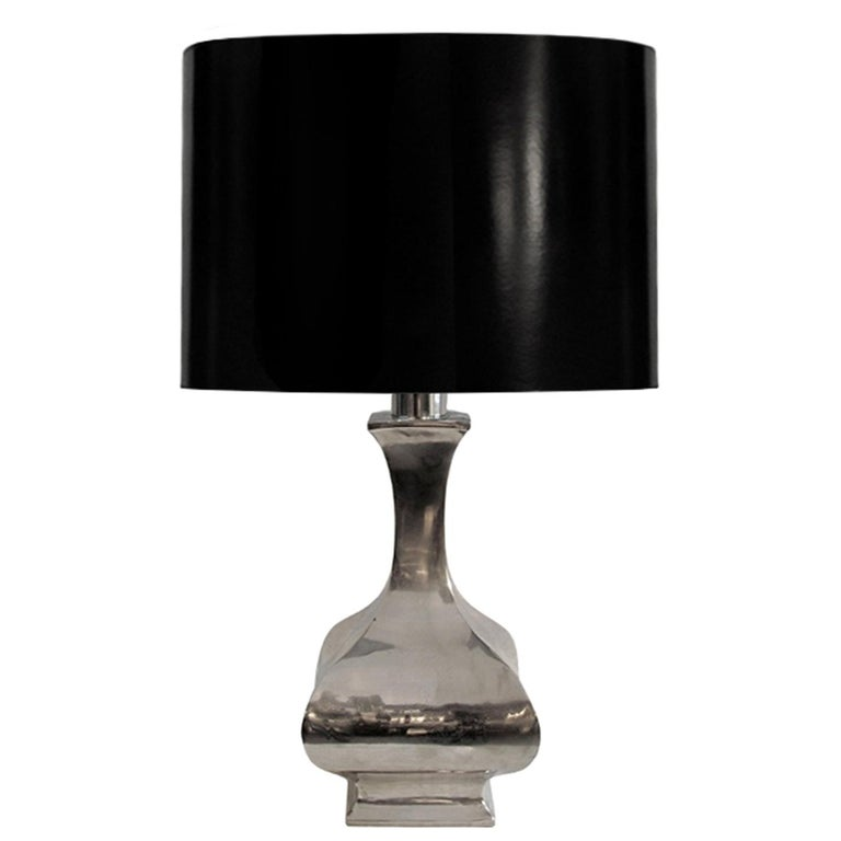 Nickel Baluster Table Lamp For Sale
