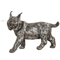Gianmaria Buccellati, a Rare and Exceptional Italian Silver Bobcat