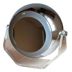 Robert Sonneman Swivel Lucite Eyeball Vanity Table Lamp Light Makeup Mirror