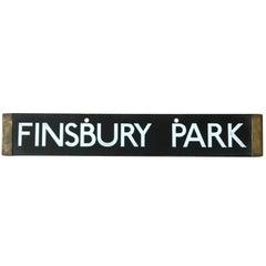 London Underground Tube Destination Board 1938 Finsbury Park, Euston