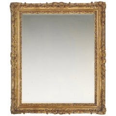1st Half 18th Century Carved Late Baroque French Frame, with Choice of Mirror