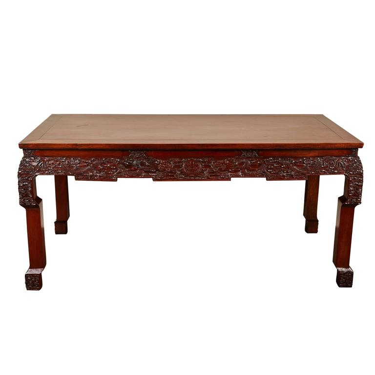 Table China: 19th Century Chinese Rosewood Carved Table At 1stdibs