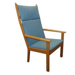 Hans J. Wegner High Back Armchair in Oak