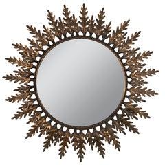 Copper-Plated Spanish Sunburst Mirror