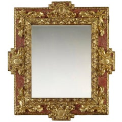 Mid-17th Century Carved Baroque Spanish Frame, with Choice of Mirror