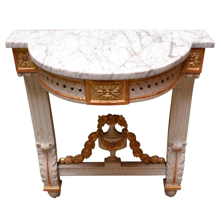 Continental Demilune Wall Console, Late 19th/Early 20th century