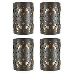 Four Moroccan Iron Wall Sconces by Paul Ferrante