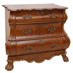 19th century rococostyle bombe commode in walnut w