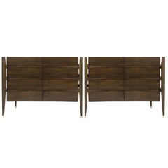 Pair of Chests by Jorgen Clausen in Rosewood, Denmark, 1950s